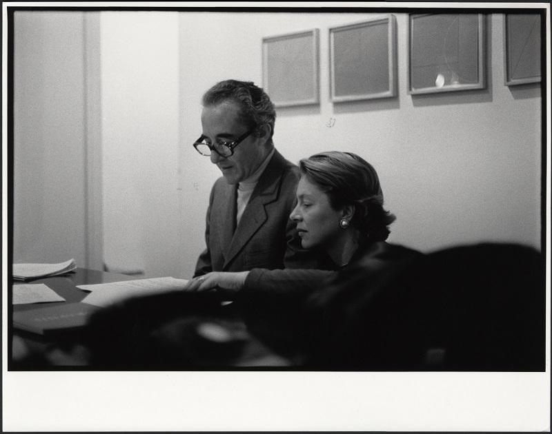 Giuseppe e Giovanna Panza presso la Leo Castelli Gallery di New York, 1975 photo credit Filippo Formenti, Milano