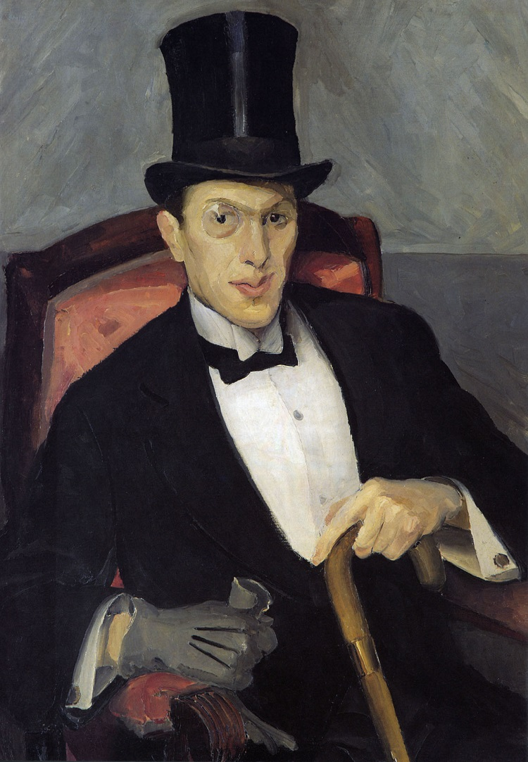 Miroslav Kraljević Bonvivant (Ritratto di Ante Masovčić), 1912. olio su tela, cm 91,5 x 65,5-Galleria d'Arte Moderna di Zagabria