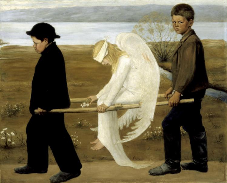 The Wounded Angel | Hugo Simberg | simbolism