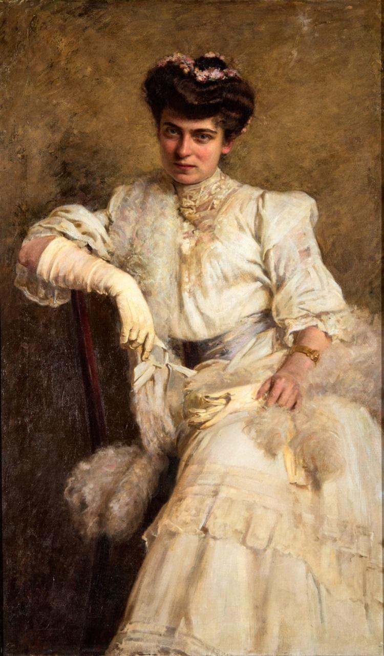 Giuseppe Brugo (Roma, not. 1890 - 1919) Giovane signora, 1905/1906 MAMbo inv. 711