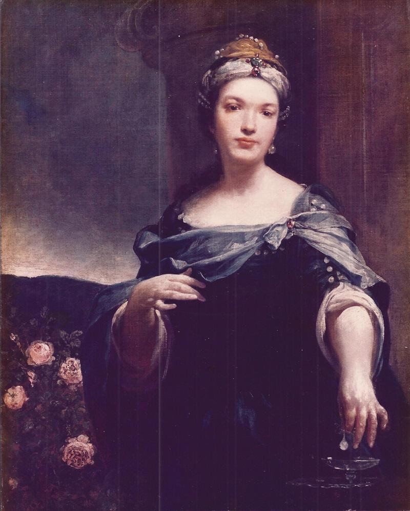 """Ritratto di donna in veste di Cleopatra, Giuseppe Maria Crespi detto """"lo Spagnolo"""""""