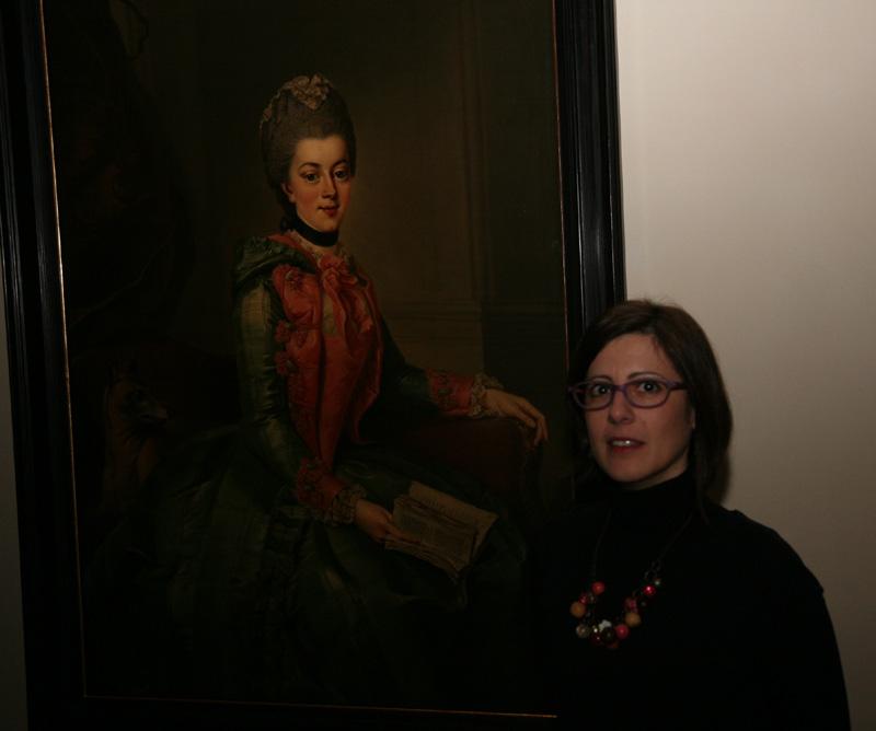 Io e il Ritratto della principessa Federica Sofia Guglielmina. J.G. Ziesenis, 1768-1769 c.a.