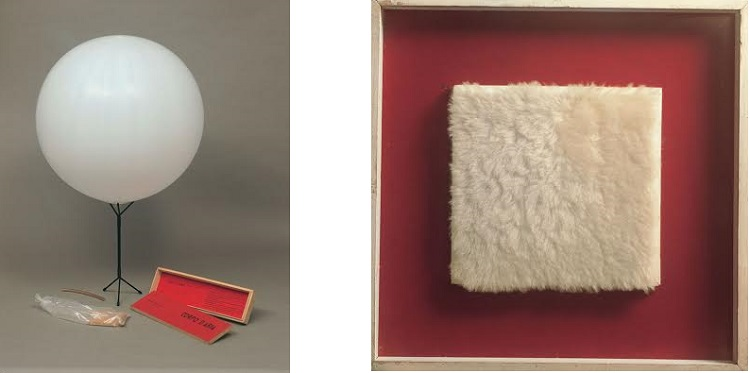 Corpo d'aria n. 06 scatola legno palloncino in gomma 1959-60 / Achrome peluche 1961 ca