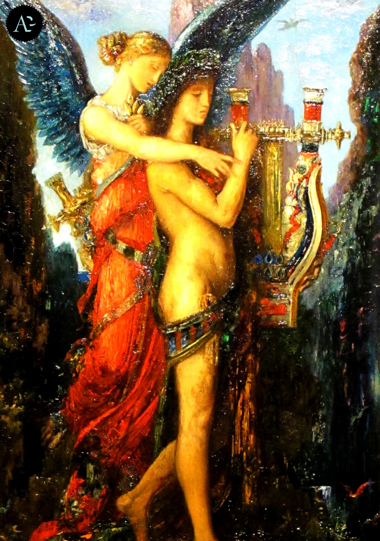 Hesiod and the muse | Gustave Moreau