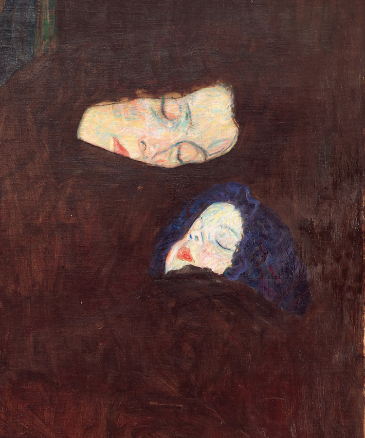 Klimt. Madre con due bambini (la famiglia) - 1909-1910. Vienna Belvedere (dettaglio)