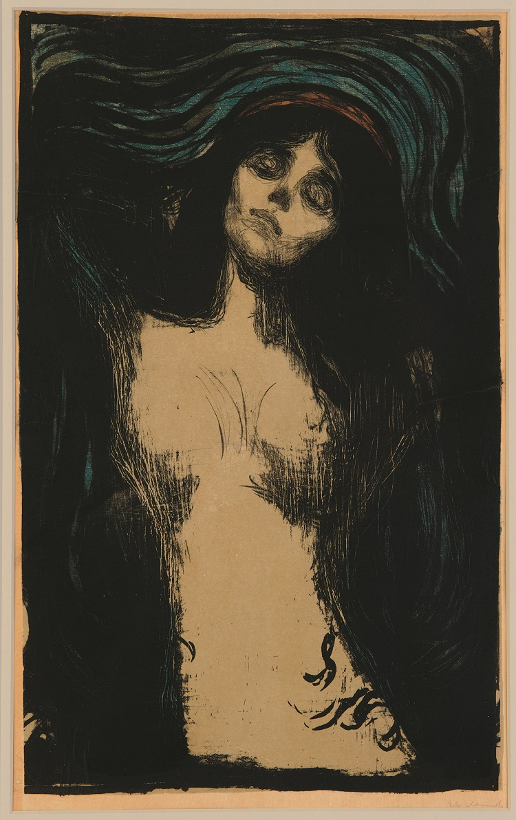 Edvard Munch Madonna, 1895 – 1902 litografia Collezione privata © The Munch Museum / The Munch-Ellingsen Group by SIAE 2013