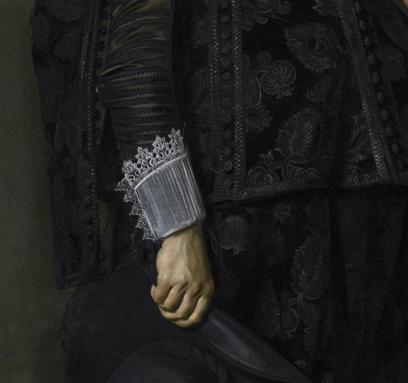 Frans Hals, Ritratto di Jacob Olycan, 1625 (dettaglio)