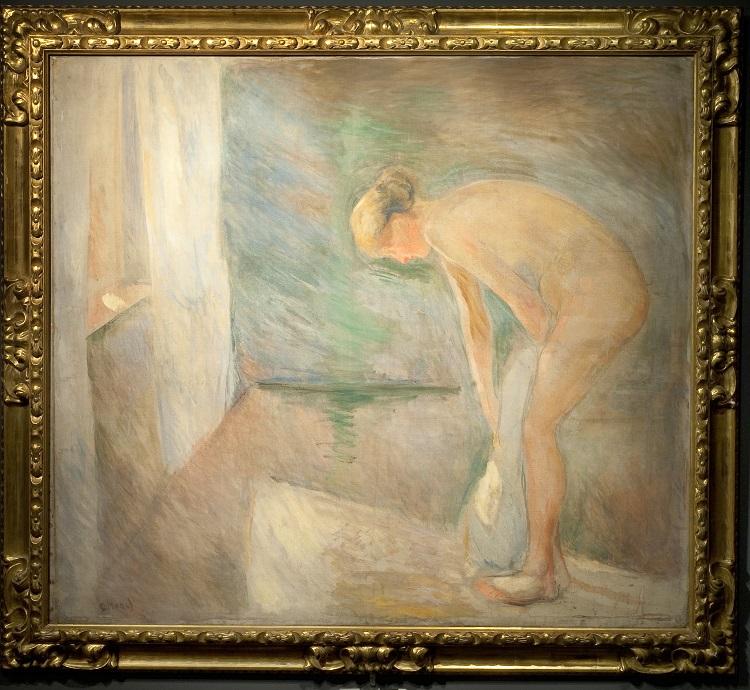 Edvard Munch. Dopo il bagno,1892 olio su tela, cm 119 x 135 M. Erik Martin Vik Collezione Erik M. Vik © The Munch  Museum / The Munch-Ellingsen Group by SIAE 2013