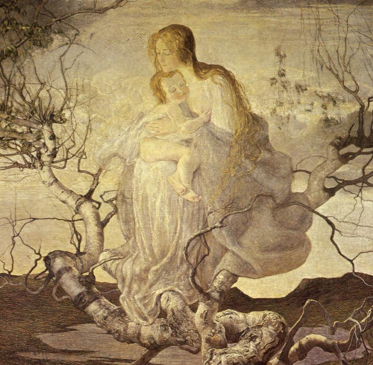 Angelo della vita |Segantini | simbolismo