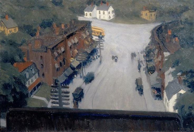American Village   Edward Hopper