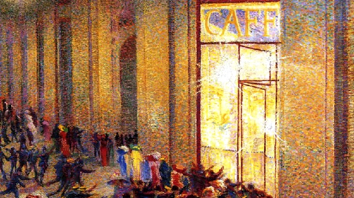 Umberto Boccioni | Riot at the gallery | Milan