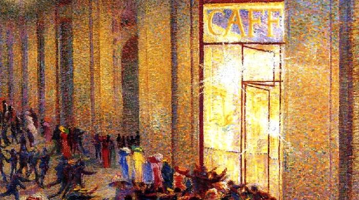 Umberto Boccioni | Riot at the gallery | Milan