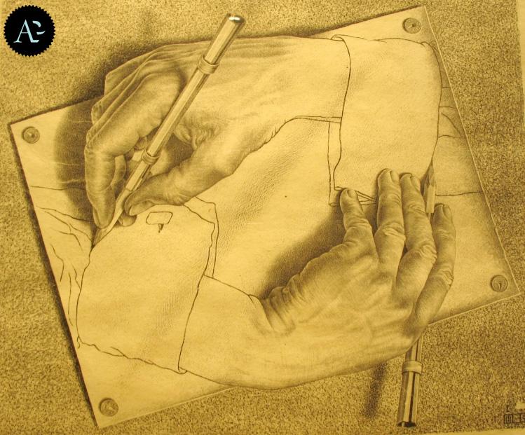 mani che disegnano   Maurits Cornelis Escher