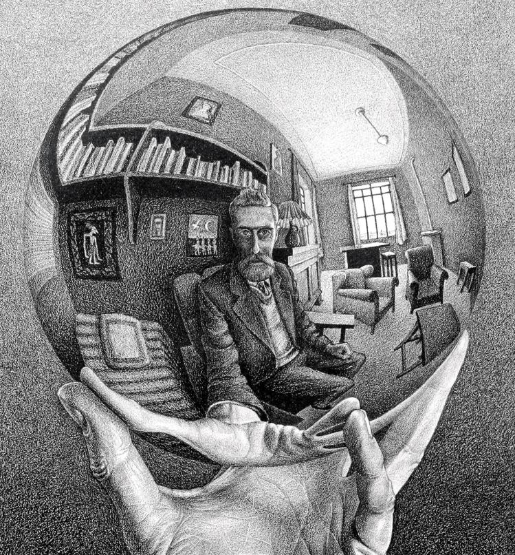 Hand with Reflecting Sphere | Escher