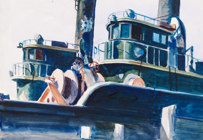 Two Trawlers   Edward Hopper