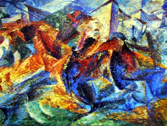 Horse Rider Houses | Umberto Boccioni