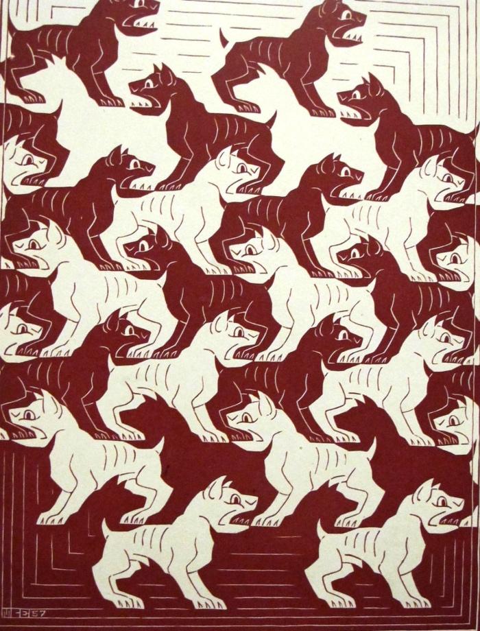 cani | tassellazione Escher