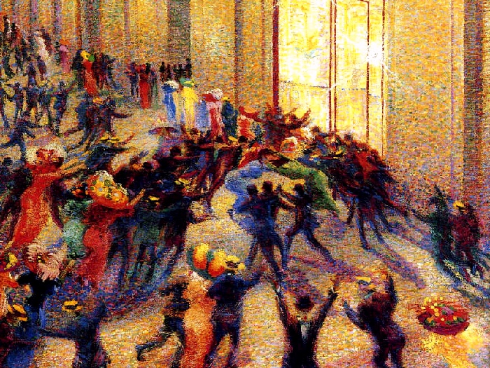 Riot at the gallery | Umberto Boccioni
