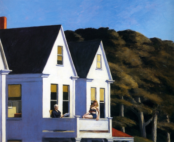 Secondo piano al sole | Edward Hopper