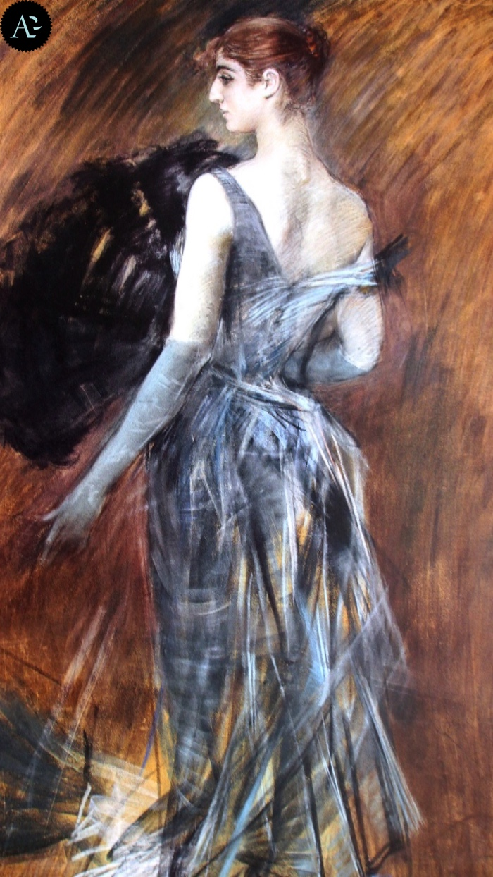 Giovanni Boldini | blonde lady in evening dress