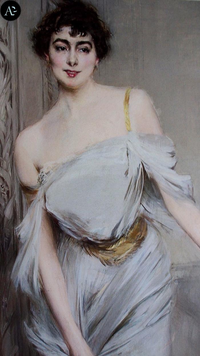 Giovanni Boldini | Madame Charles Max | dettaglio