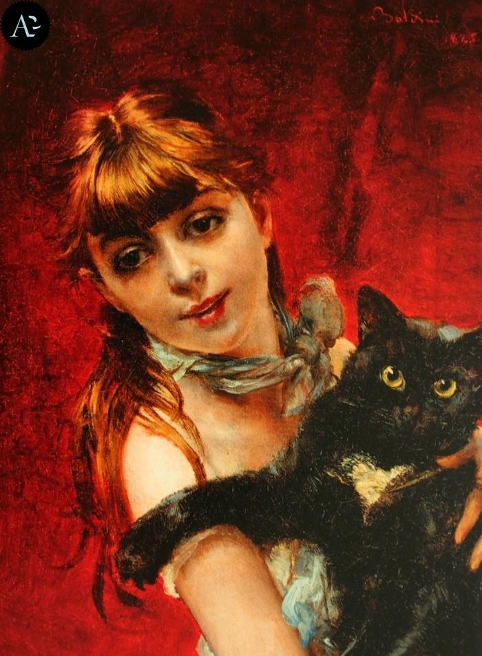 Giovanni Boldini | The Girl with a Black Cat
