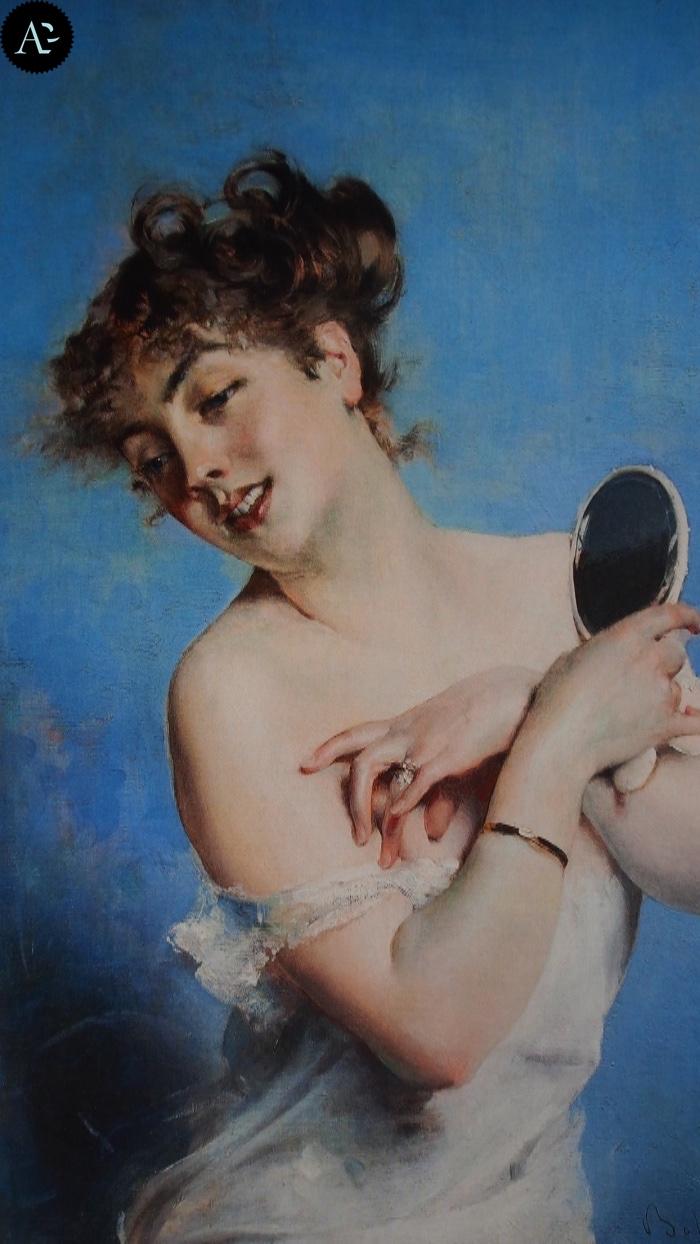 Giovanni Boldini | giovane donna in deshabillé | la toilette