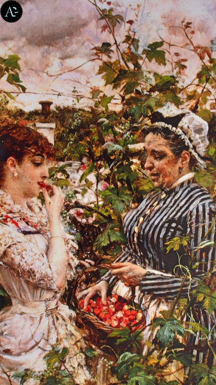 Giovanni Boldini | Firstfruits | the first strawberries
