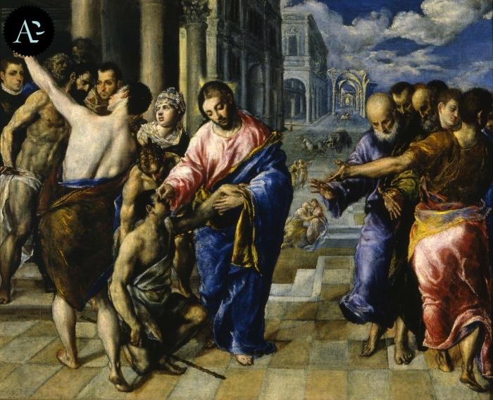 El Greco | Guarigione del cieco nato