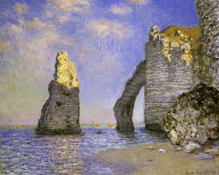 Claude Monet | The cliffs at Etretat
