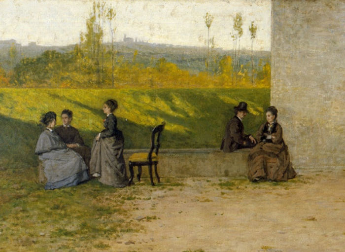 Silvestro Lega | visit to the villa