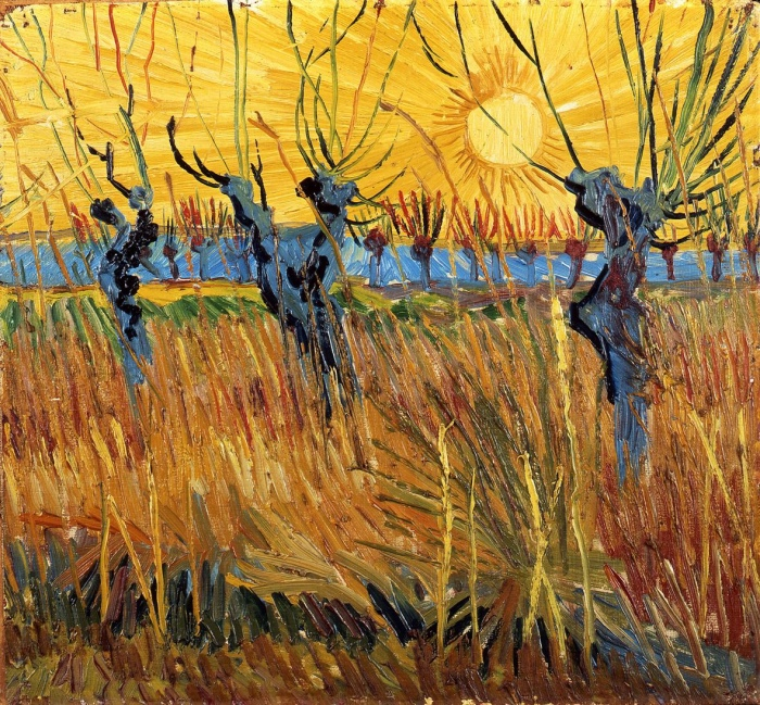 van Gogh| Willows pruned at sunset