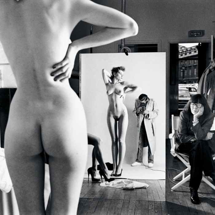 Self-Portrait with Wife and Models | Helmut Newton
