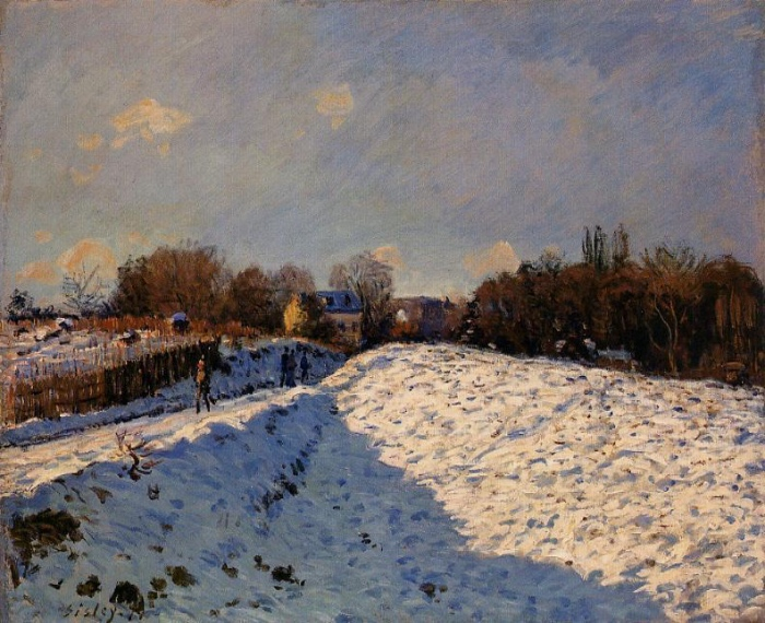Alfred Sisley | The effect of snow at Argenteuil
