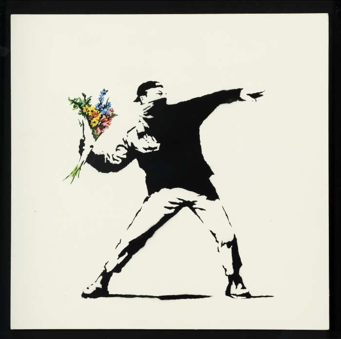 Banksy |flower trower | exhibitions in Rome