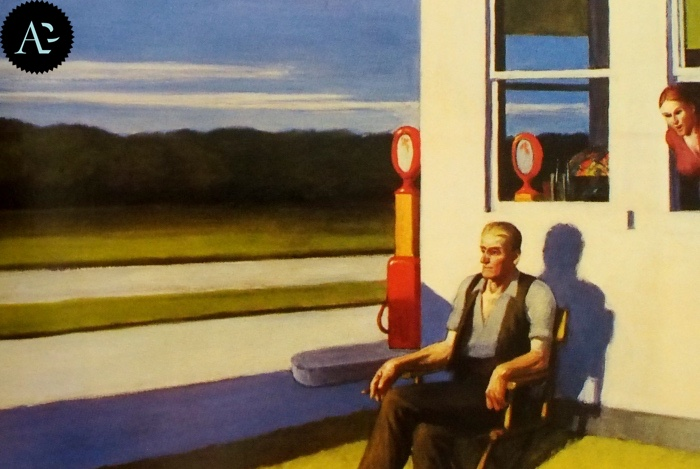 Superstrada a quattro corsie | Edward Hopper