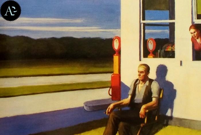 Superstrada a quattro corsie | Edward Hopper