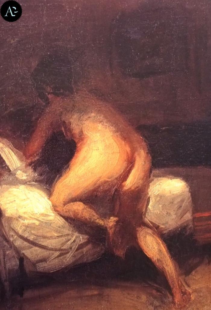 Nudo che sale sul letto | Edward Hopper