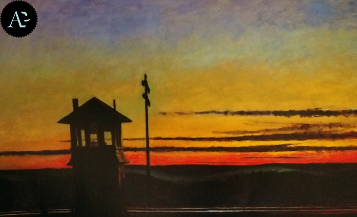 Railroad Sunset| Edward Hopper