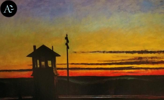 Tramonto sulla ferrovia | Edward Hopper