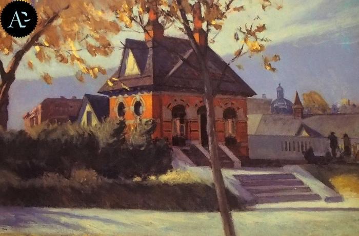 small town station| Edward Hopper