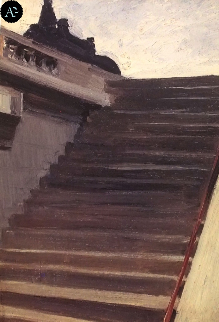 Steps in Paris | Edward Hopper