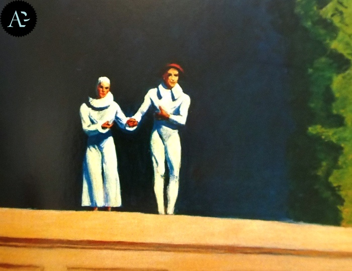 Two Comedians | Edward Hopper