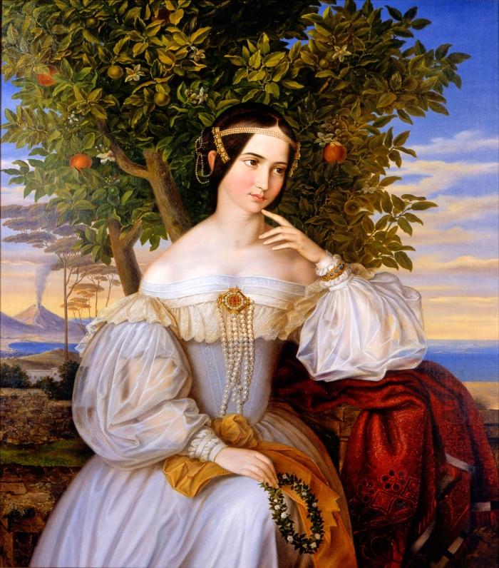 Moritz Daniel Oppenheim Portrait of Charlotte de Rothschild
