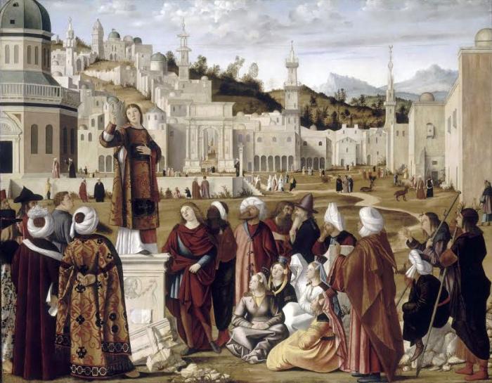 Vittore Carpaccio | Predica di santo Stefano | mostre Venezia