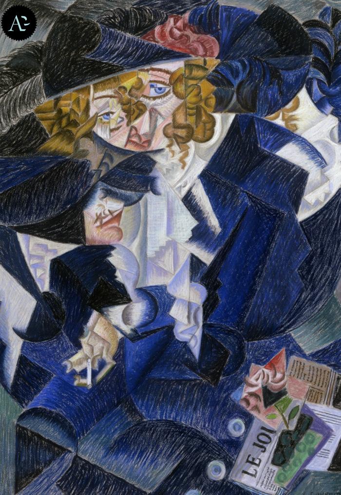 Gino Severini | Ritratto di Madame M. S. | mostre Mart Rovereto