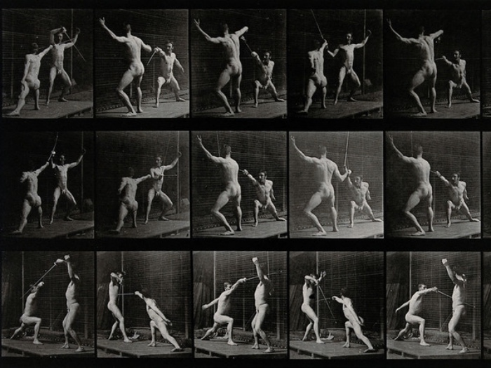 Edward Muybridge | duello scherma