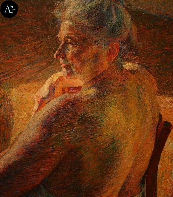 Umberto Boccioni | Nudo di spalle | Controluce
