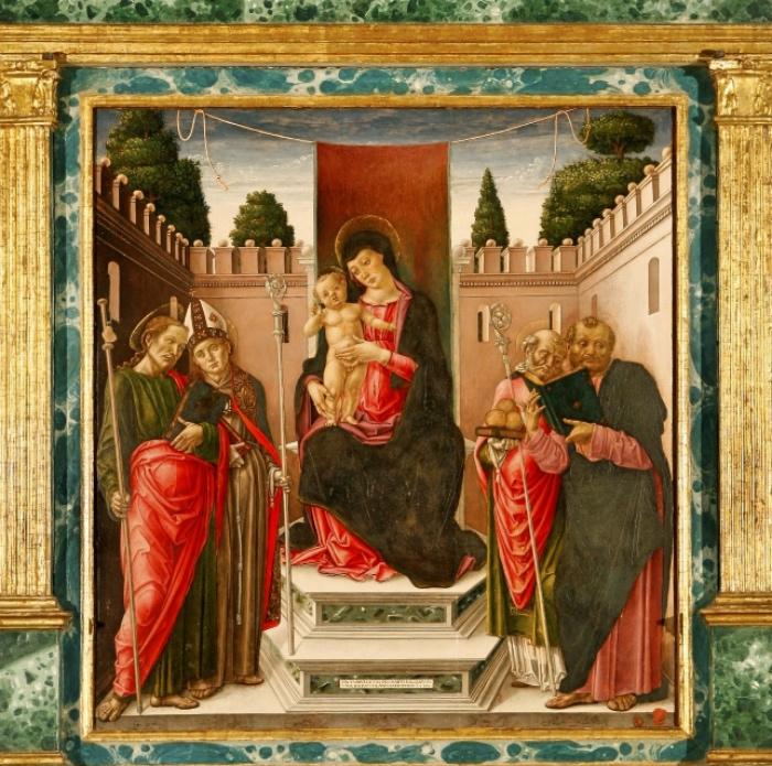 Bartolomeo Vivarini | Madonna in trono con Bambino e santi