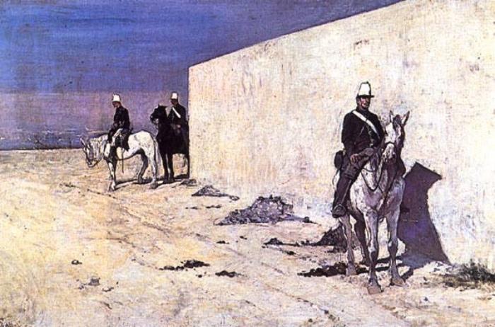The white wall | Giovanni Fattori | Macchiaioli